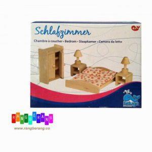 خونه بازی چوبی- اتاق خواب