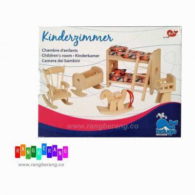 خونه بازی چوبی- اتاق خواب بچه ها