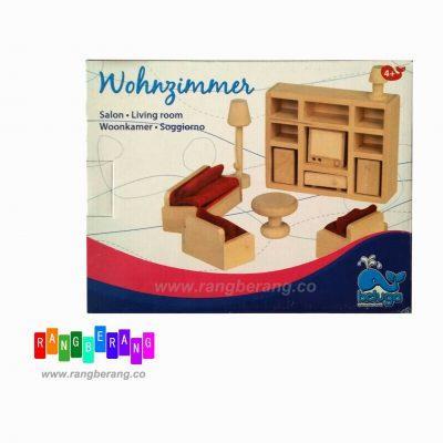 خونه بازی چوبی- اتاق نشیمن