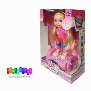 عروسک دختر اسکوتر سوار